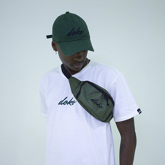 Waist Bag Verde Militar Logo