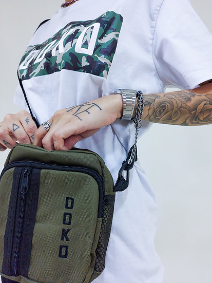 Shoulder Bag Verde Militar Camo
