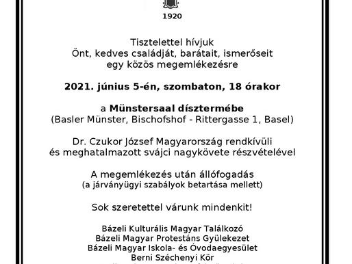 A Nemzeti Összefogás Napja                                   Magyar nyelvű ökumenikus istentisztelet