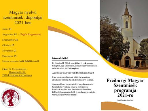 Első Magyar Nyelvű Szentmise Július 11.- én 16 órától