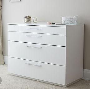 Frittenden Bedroom White Chest Image 1.j