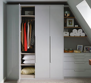 Pluckley Bedroom Gloss Dove Grey Image 1
