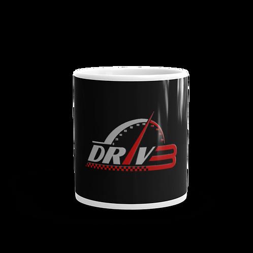 DRIV3 White glossy mug