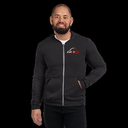 DRIV3 Unisex zip hoodie
