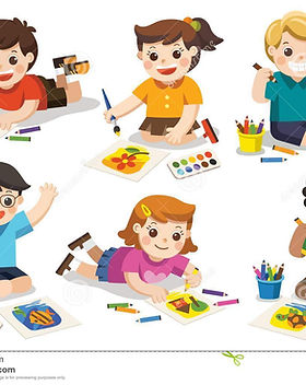 назад-к-школе-счастливые-дети-рисуют-изо