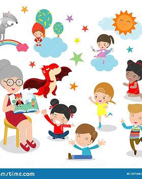 милые-дети-слушая-их-учителя-говорят-рас