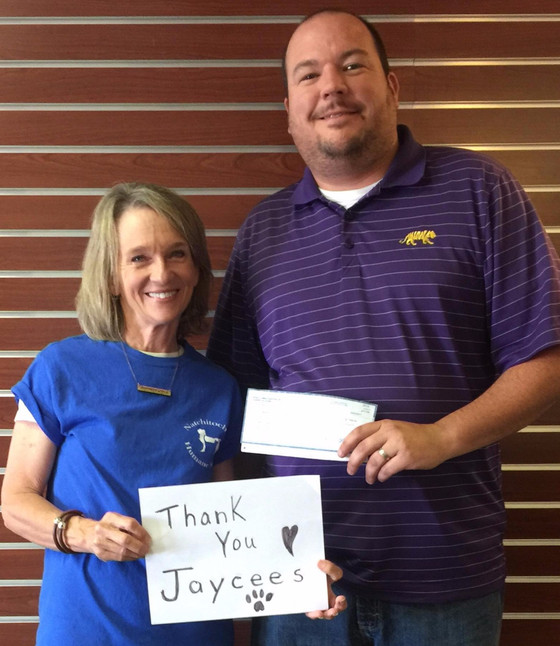 Jaycees Donate to Natchitoches Humane Society