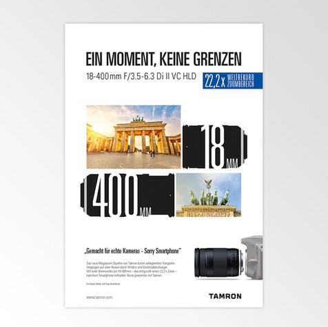 Tamron Deutschland Anzeigengestaltung