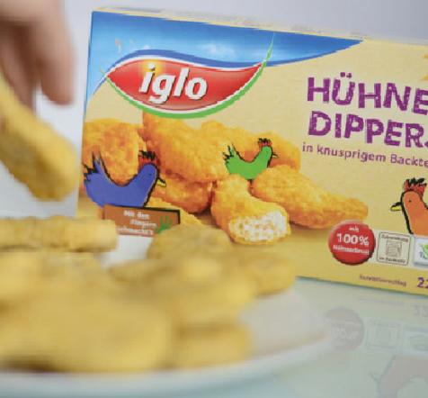 Iglo Austria packaging design