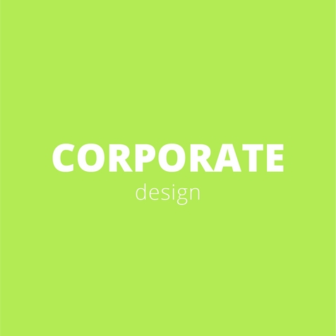 Corporate design is the visual appearance of a company and one of the most important keys to success.