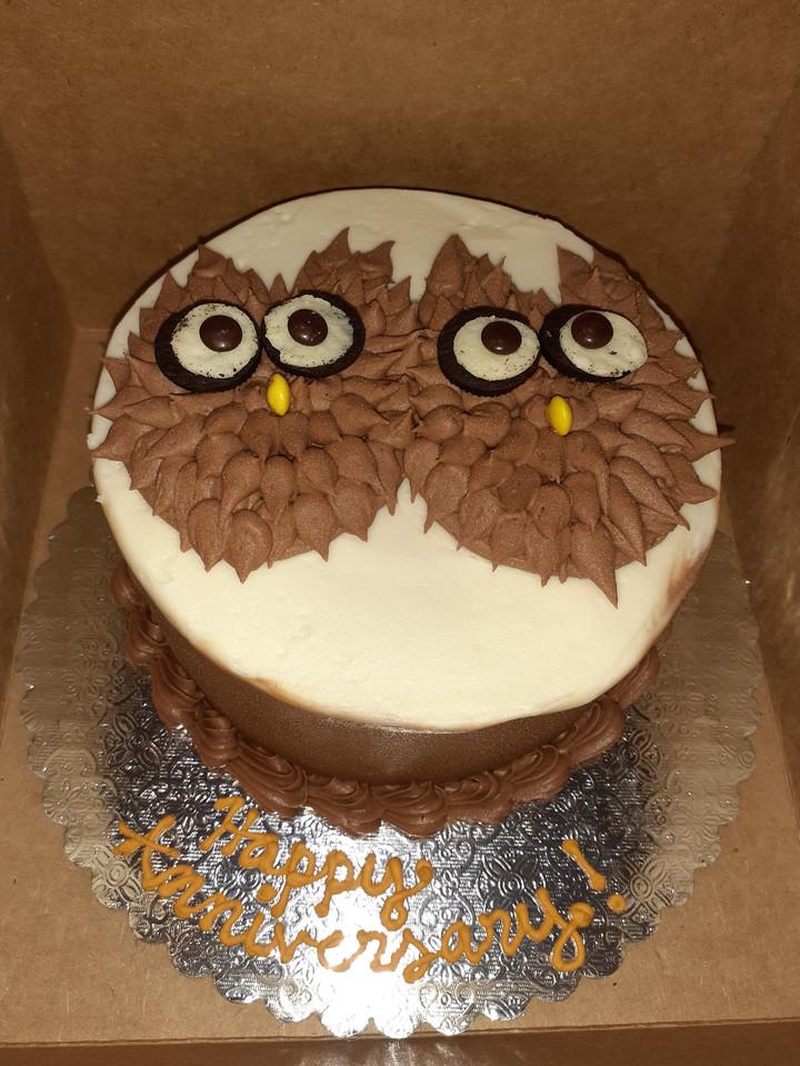 Owl Anniversary Cake