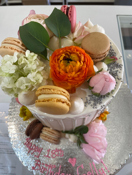Real Flower and Drip Birthday Cake.jpeg