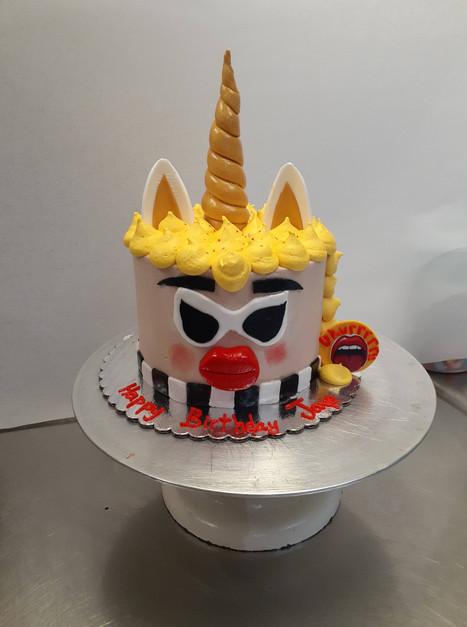 Cardi B Unicorn Birthday Cake