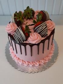 Strawerry with Chocolate drip Cake.jpg