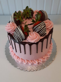 Strawerry with Chocolate drip Cake.jpg
