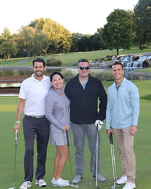 A foursome from the BCI golf tournament