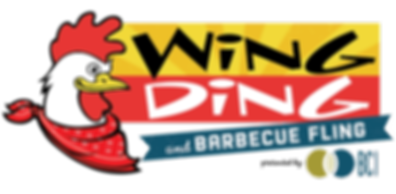 Wing Ding logo vector with BBQ with pres