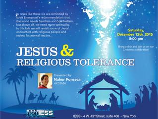 Jesus & Religious Tolerance