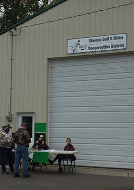 Nitrate Clinic set up outside Stevens Soil and Water Conservation District