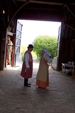 Peasant in barns