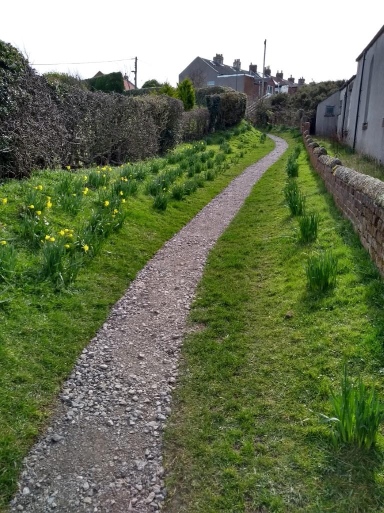 Refurbished chapel path