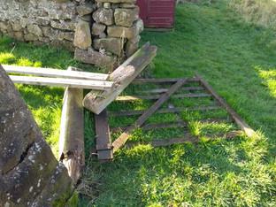 Gateway in far corner in need of repair