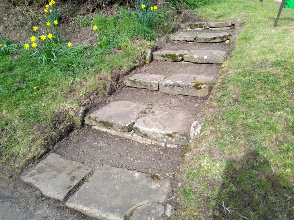 Finished - steps at Recreation View