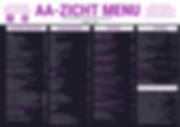 AA-zicht menu 2020