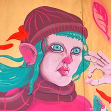 Burns Mural Close-up