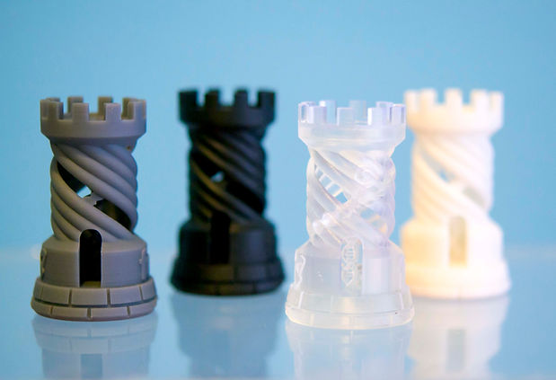 Four Objects photopolymer printed on 3d