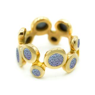Ring: Ambition, 3mm-5mm Osmium Diamonds im Wechsel / Ring: Ambition, 3mm-5mm Osmium Diamonds in alternation