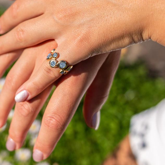 Der Mixed Osmium Diamonds Ring
