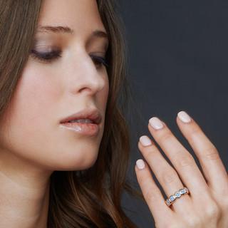 Ring: Ambition, 4mm Osmium Diamonds  / Ring: Ambition, 4mm Osmium Diamonds