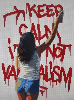 Keep calm it's not vandalism