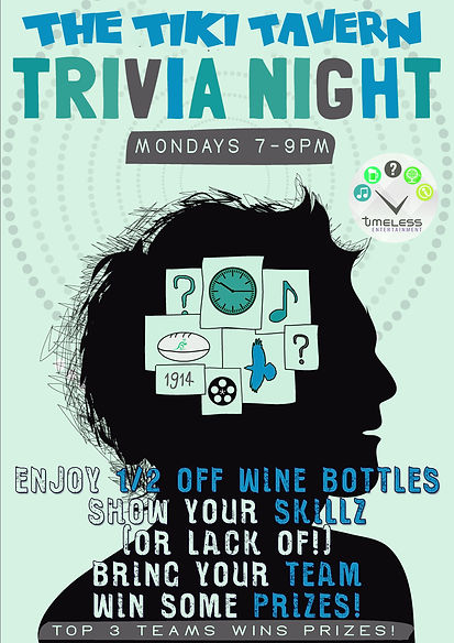 trivia night at the tiki tavern november