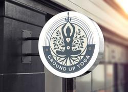 Ground Up Yoga Sign