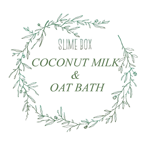 Coconut Milk and Oat Bath