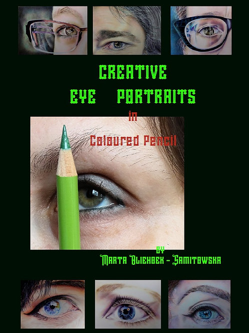 Creative Eye Portraits in Coloured Pencil