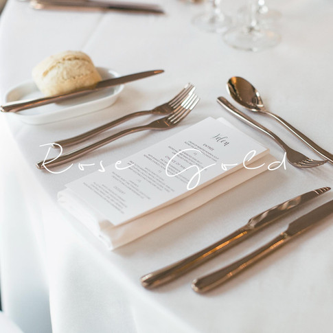 Why industries table top hire for weddings rose gold cutlery perth