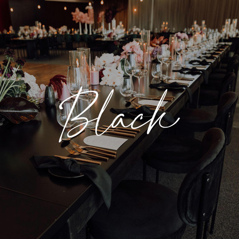 Why industries table top hire for weddings black linen