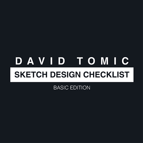 Sketch Design Checklist