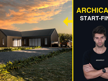 ArchiCAD 24: 30 Minutes Modern Architecture Tutorial