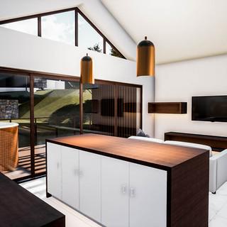 David Tomic Destination architect denmark over the water villa kitchen