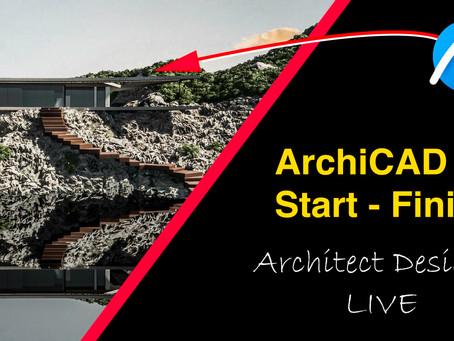 Architect Designs LIVE on ArchiCAD 24