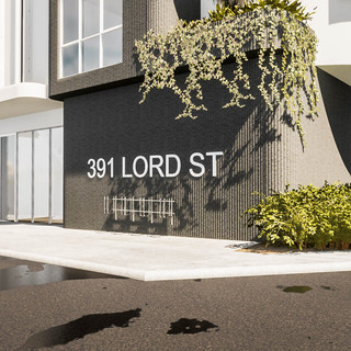 David Tomic Architect Lord Street Perth Apartments entry