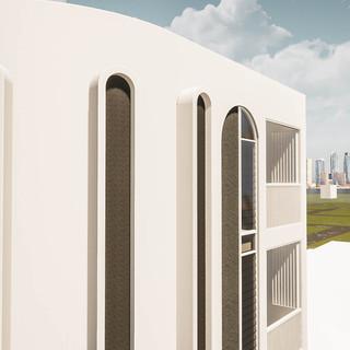 David Tomic Architect Lord Street Perth Apartments secret bathroom windows