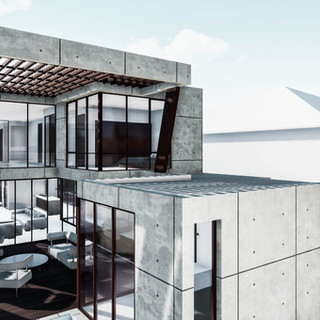 David Tomic precast concrete house perth solar pergola
