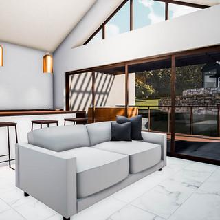 David Tomic Destination architect denmark over the water villa living