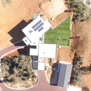 Concept Building Design_Perth Hills Residence_drone top view