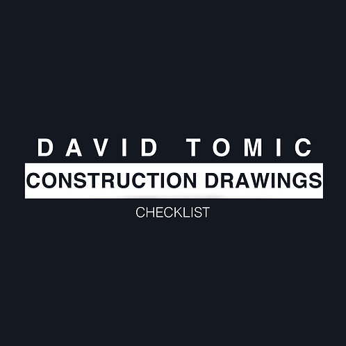Construction Drawings Checklist